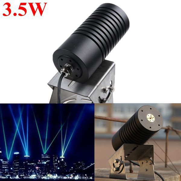 445nm 3.5W 3500mW Waterproof Outdoor Blue Laser Module Landscape Laser Light