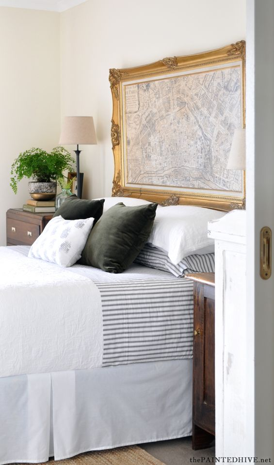 Sophisticated farmhouse style bedroom update on a