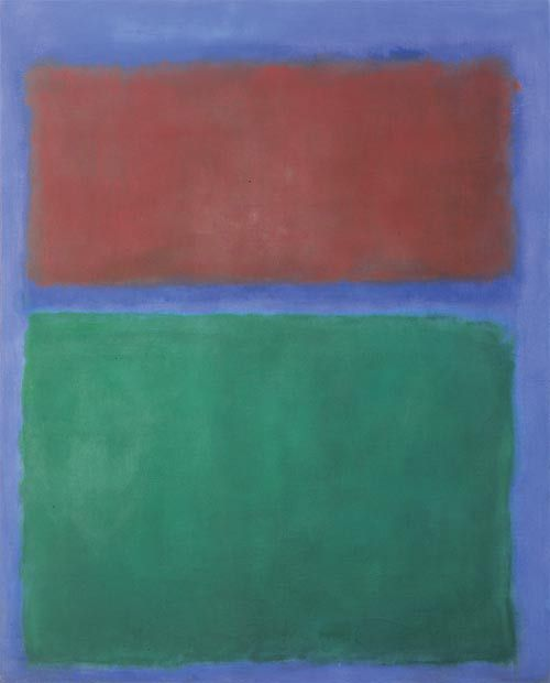 Mark Rothko, Earth and Green, 1955, oil on canvas, 231,5 x 187 cm, Museum Ludwig 1971, acquired with the support of the Kuratorium WRM/ML and the State of NRW