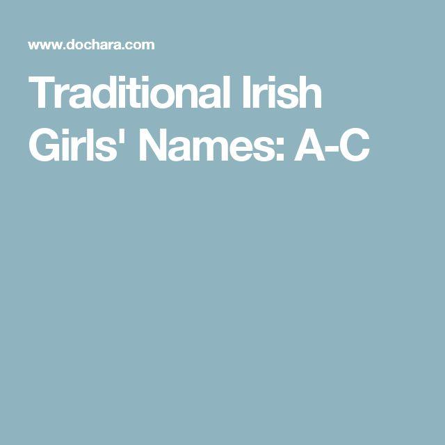 Traditional Irish Girls' Names: A-C