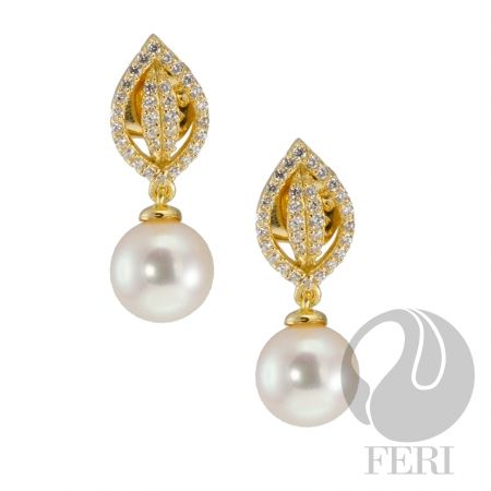 One Love, One Heart- Earrings Exclusive 950 fine sterling silver  - Exclusive 3 micron 18K gold plating  - Set with AAA white cubic zirconia and a white fresh water pearl https://www.globalwealthtrade.com/vdm/display_item.php?referral=stephjames&category=66&item=5230&cntylng=&page=2
