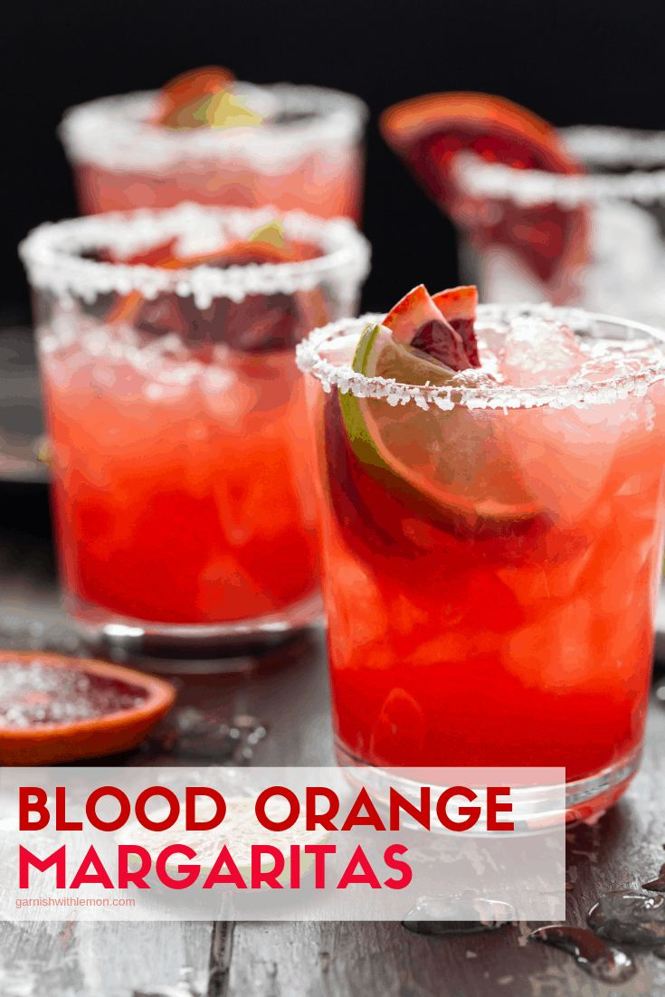 These Blood Orange Margaritas for a Crowd are a gorgeous batch cocktail recipe f…