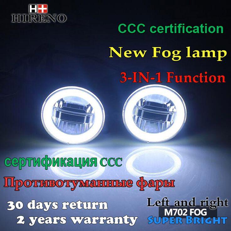 Hireno Auto LED Angel Eyes Daytime Running Light Car Fog Light Foglamp For Mitsubishi Outlander 2006 - 2017,3-IN-1 Function