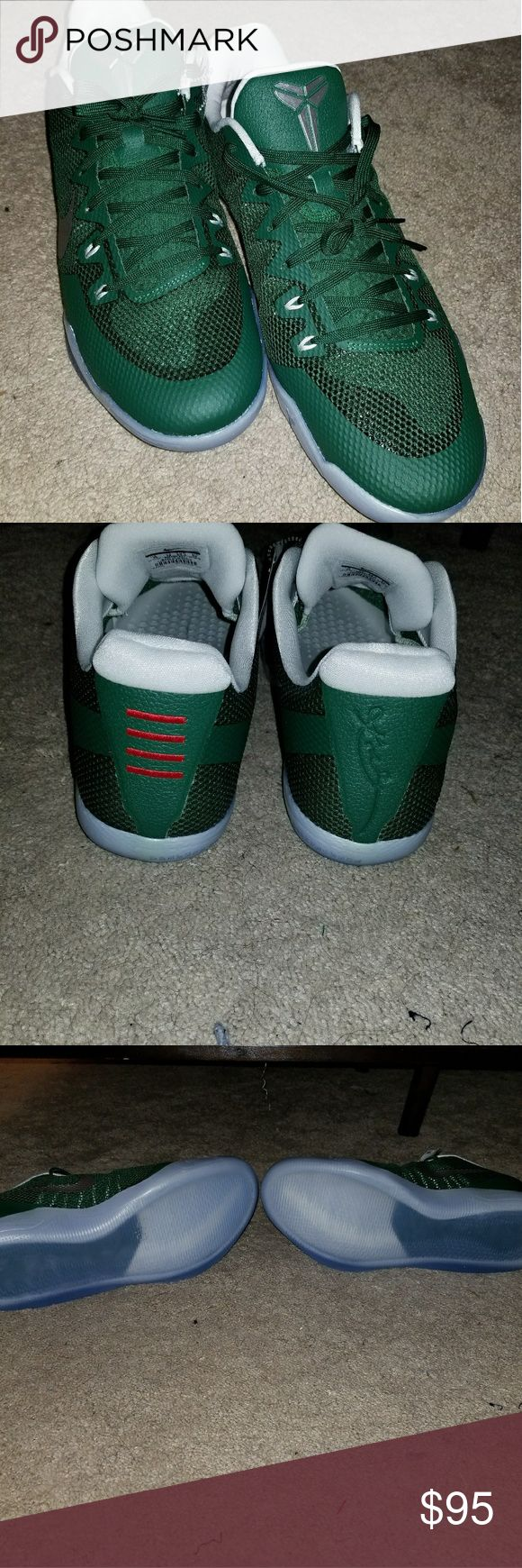 Nike Kobe 11 low top Brand new,  never worn Kobe 11 low top in Celtic green with silver swoosh. Nike Shoes Athletic Shoes