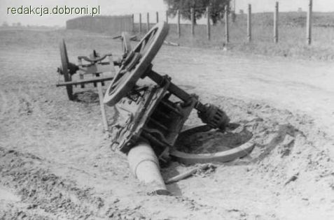 Zniszczona we wrześniu 1939 polska armata De Bange wz.78, nie przebudowana. Jedyny dowód na to, że a… - zdjęcie 6 z 13 | zdjęcia dobroni.pl