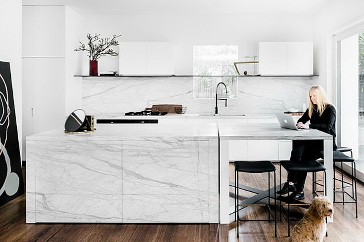 This renovation of a 1930s home sympathetically references the original Art Deco features while...