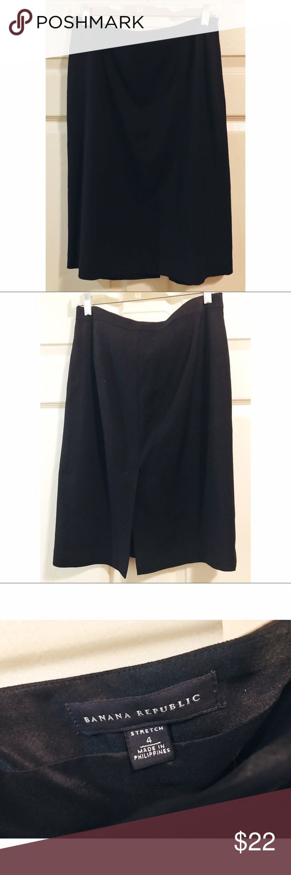 Banana Republic • NWOT lightweight pencil skirt Banana Republic. New without tags. Wool black pencil skirt. Lightweight. Super cute! Size 4. (The 1st photo is directly from the Banana Republic website and I do not take credit for it) Banana Republic Skirts Pencil