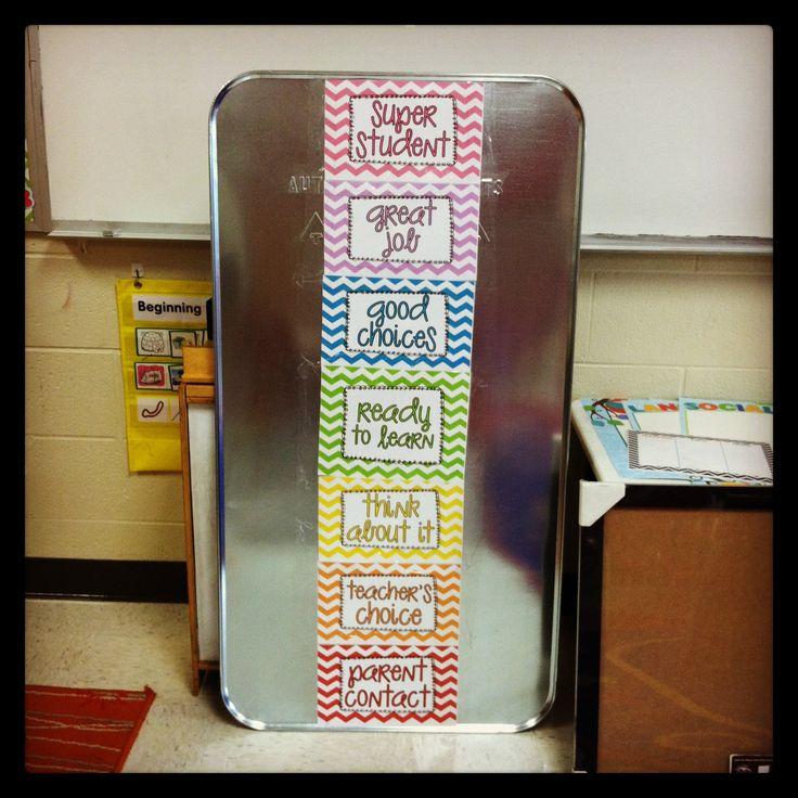 Classroom Behavior Ideas : Classroom behavior chart magnetic school ideas oil drip