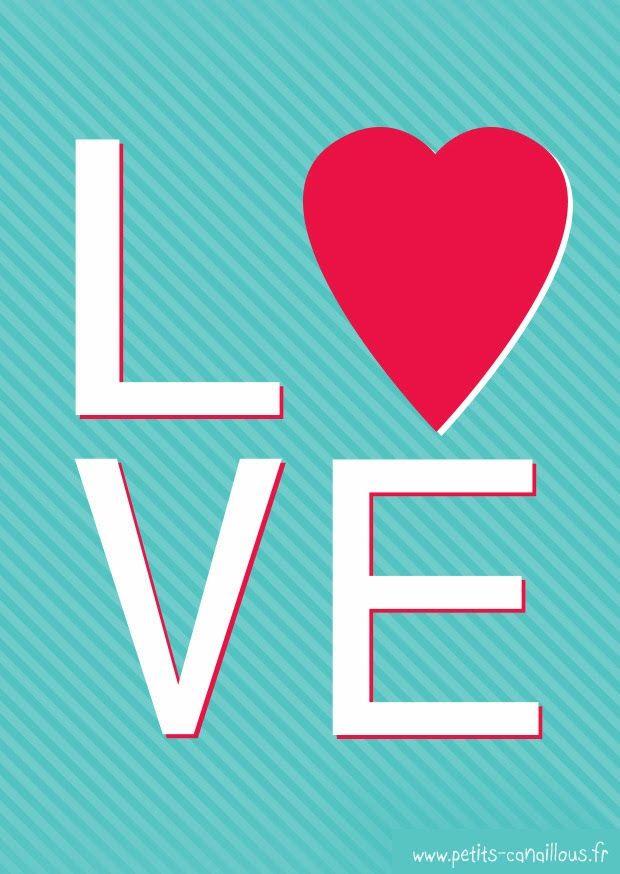 Carte de saint valentin à imprimer [gratuit] Love par petits-canaillous.fr  Free printable