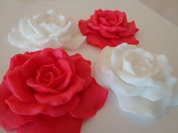 Wedding Rose Soap Decorative SoapWedding Soap4 Pieces. by byrosali