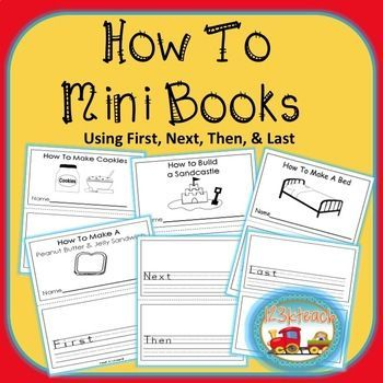 "How to Writing: Have your students put together ""How To"" mini books to describe how to do a wide variety of things using first, next, then and last. This is a great activity to get your students writing about things they are familiar with as well as learning to sequence events.This product can be used throughout the year as there are how to books for every season.**Just updated to include even more writing prompts as well as your choice of primary or secondary lined paper."
