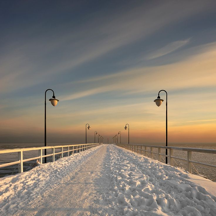 Gdynia in Winter, Poland. Re-pinned for You by #Europass