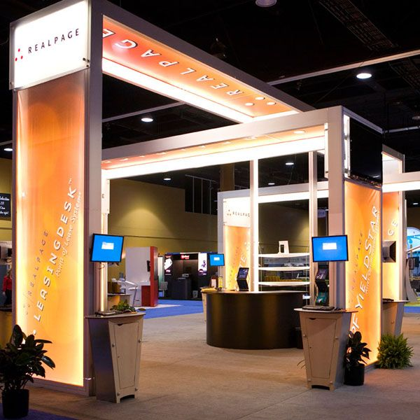 Exhibition Booth System Panel : Lumiture internally lit structure is a modular system for