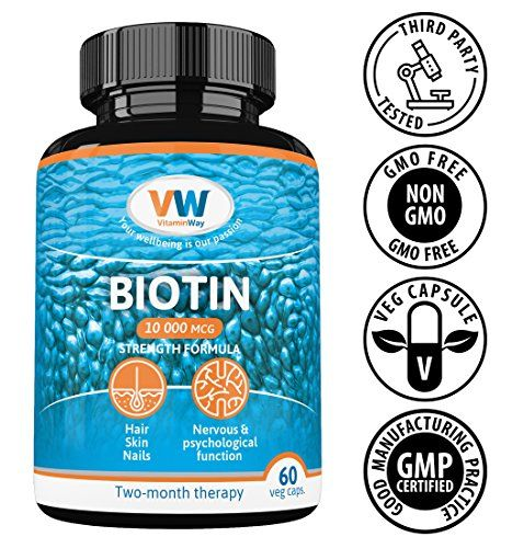 The Product Pure Biotin 10000 mcg, Hair Growth Supplement, 60 Vegan Capsules. Vitamin B7 Contributes to Healthy Skin & Strong Nails for Women and Men. Non-GMO, Gluten Free by VitaminWay.  Can Be Found At - http://vitamins-minerals-supplements.co.uk/product/pure-biotin-10000-mcg-hair-growth-supplement-60-vegan-capsules-vitamin-b7-contributes-to-healthy-skin-strong-nails-for-women-and-men-non-gmo-gluten-free-by-vitaminway/