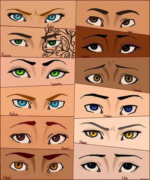Throne of Glass eyes