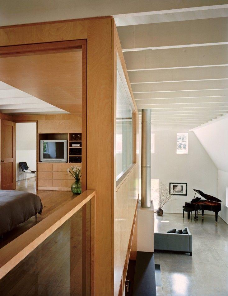 Specht Harpman, modern gambrel barn in Connecticut, maple wood, concrete floors | Remodelista