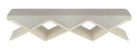 FACETTE BENCH- TRIPLE - Contemporary, Transitional Upholstery / Fabric, Wood, Leather, Lacquer Benche by Natasha Baradaran