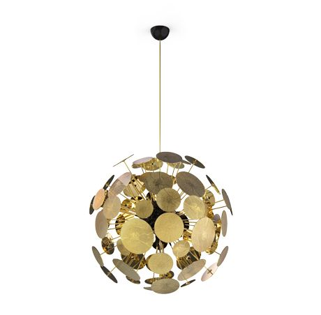 Newton is an aluminum suspension lamp that brings a unique ambient lighting to every luxury space