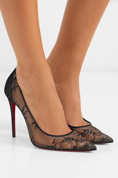 206487ee5f4 Christian Louboutin 554 100 lace and lamé pumps.  christianlouboutin