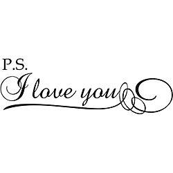'P.S. I Love You!' Vinyl Wall Art