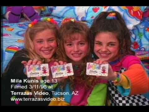 Pin for Later: 16 Adorable Celebrities Who Starred in TV Adverts Before They Were Famous Mila Kunis For Lisa Frank We're pretty happy that Mila Kunis's style isn't as outrageously kitsch as it used to be back in the days of this Lisa Frank ad in the early '90s.