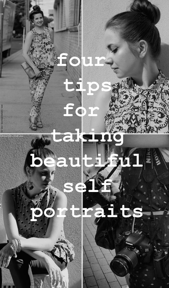 Top 4 Tips: How to Take Beautiful Self Portraits www.makesellgrow.com#tips#idea#photos#cheat