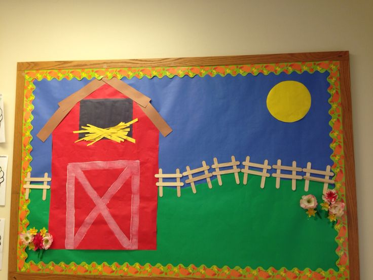 Barnyard I made for toddlers. Just add animals using handprints.