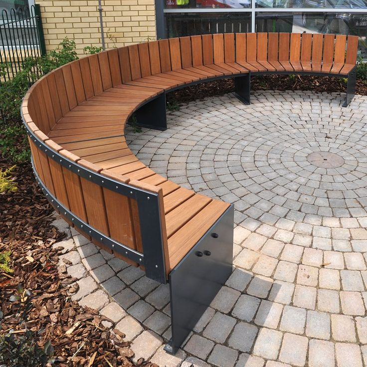 The 25 Best Curved Bench Ideas On Pinterest Outside