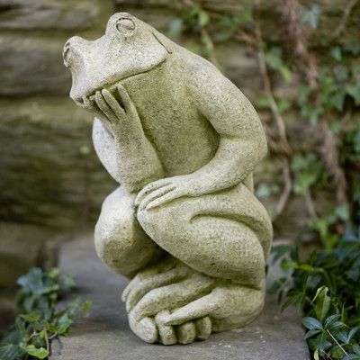 Campania International, Inc The Thinking Man's Frog Statue Color: Copper Bronze