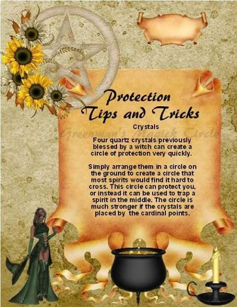 Circle of protection with crystal's