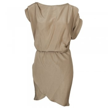 Available at www.my-favourite-thing.com 100% silk beige asymmetric dress £370