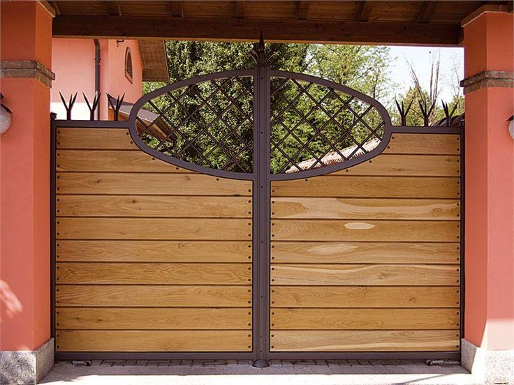 Portão motorizada deslizante de madeira by QUARTIERI LUIGI