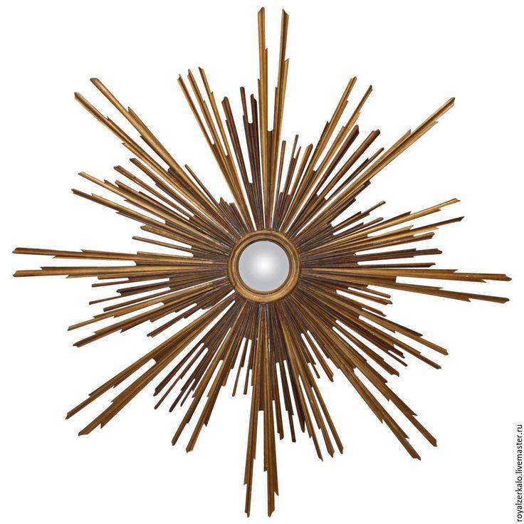 Купить или заказать Зеркало солнце Флоренция в интернет-магазине на Ярмарке Мастеров. Изумительное аристократическое салонное зеркало солнце в итальянском стиле 19века. Купить зеркало солнце подобной формы довольно сложно, ведь это обычно антикварные и очень дорогие старинные зеркала. Я же могу вырезать для вас такое необычное зеркало из дерева по разумной цене.