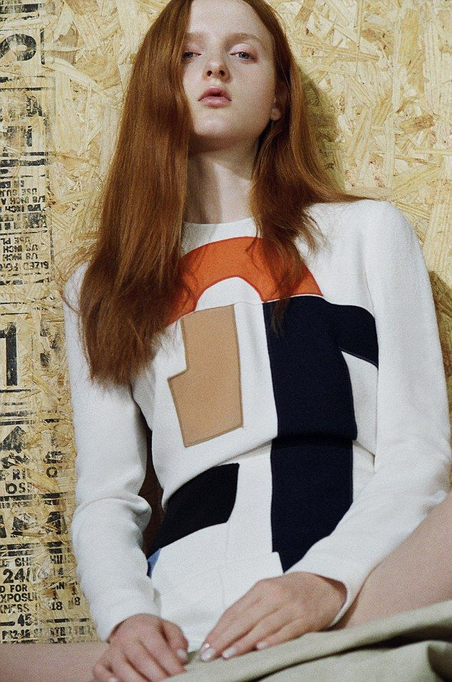 Victoria Beckham unveils chic SS15 collection #dailymail