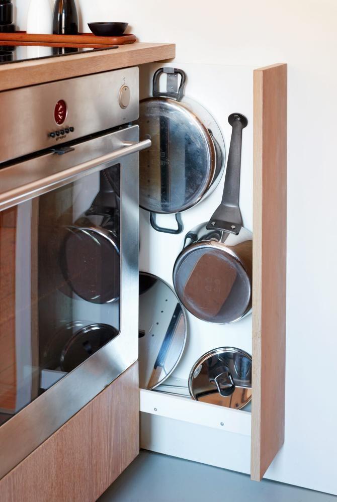 Kompakt kjøkken - Hver kubikkcentimeter er utnyttet - Kjøkken