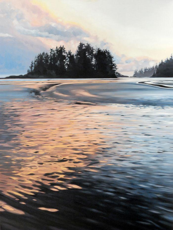 """""""Hyaline"""". Oil on Birch. 2015. 18""""x24"""". Collin Elder. www.collinelder.com"""