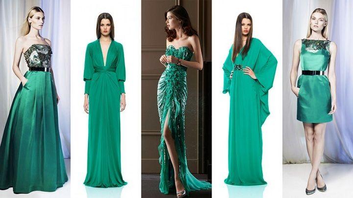 вечерние платья на новый год 201 зеленые