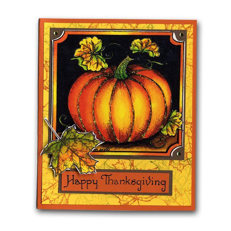 Card Making Ideas Thanksgiving Part - 23: Northwoods Happy Thanksgiving Pumpkin Fall Card