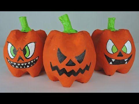 youtube halloween diyhalloween pumpkinsplastic bottlesideas