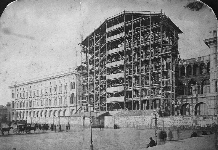 Galleria Vittorio Emanuele II on build 1870