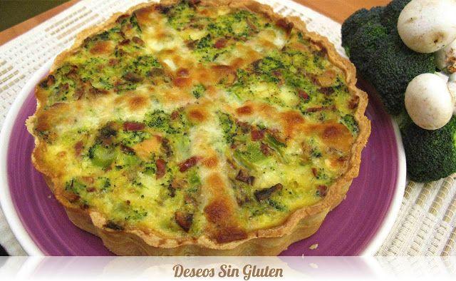 Deseos Sin Gluten: QUICHE DE JAMÓN Y BRÓCOLI SIN GLUTEN
