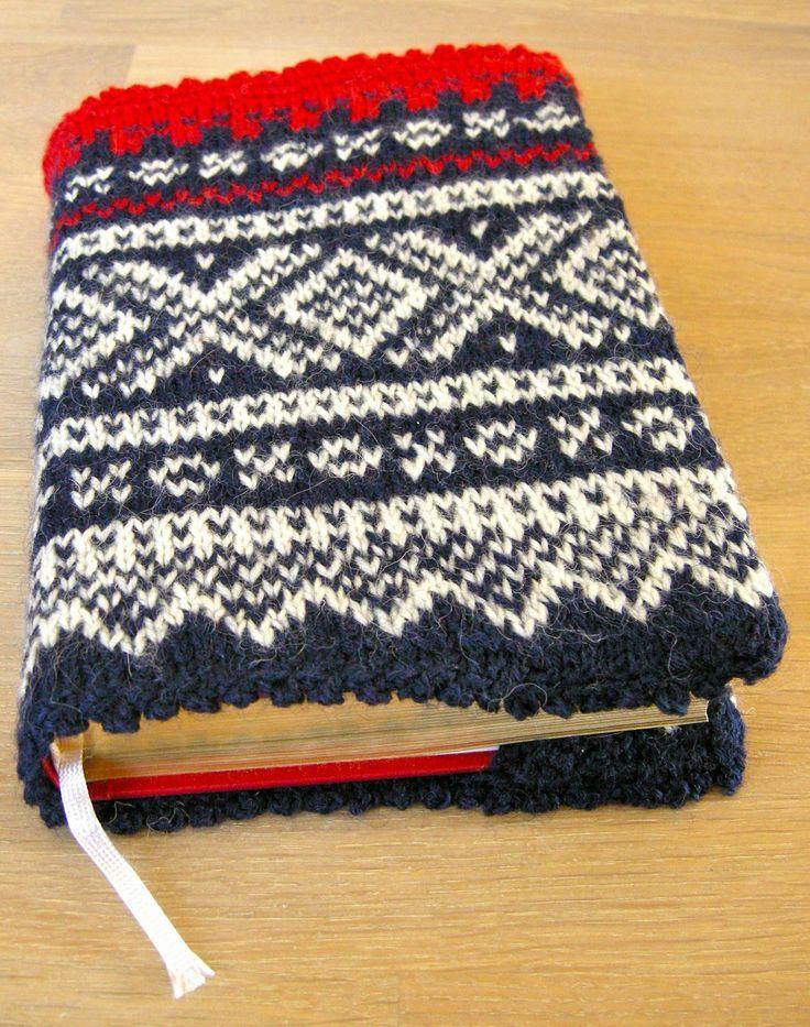 Knitted Book Cover Pattern Free : Norwegian marius pattern book cover ingunn si vesle verd