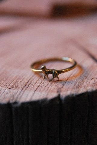 pretty tiny wolf ring