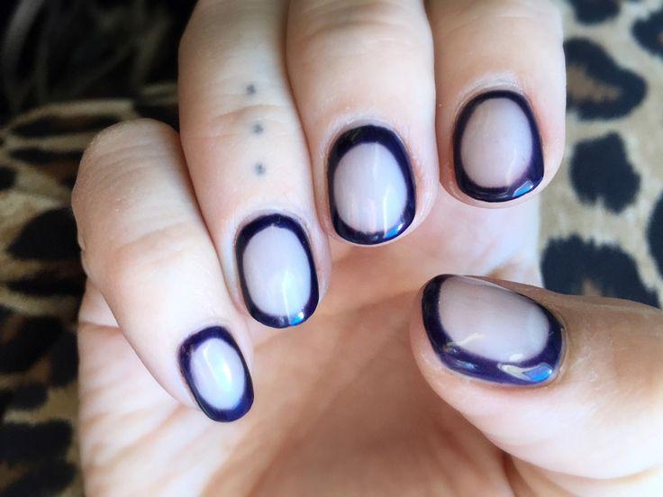 Mental Madness #circle #nailart #negativenails #Violetnails #beauty #nails #nailpolish #gelnails