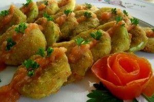 Dovlecei pane cu sos de usturoi - Culinar.ro