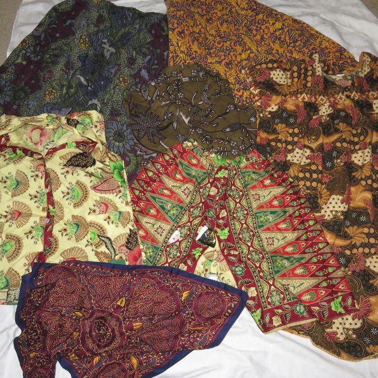 ASIAN CLOTHING 7piece LOT Batik Thai Singapore Style Prints COSTUMES TIKI HIPPIE
