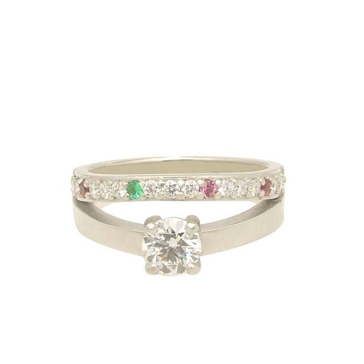 Diamond Pave Anniversary Family Ring