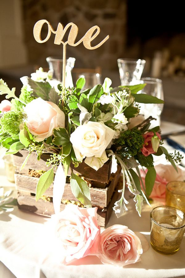 17 best ideas about rustic centerpieces on pinterest for Floral table decorations for weddings
