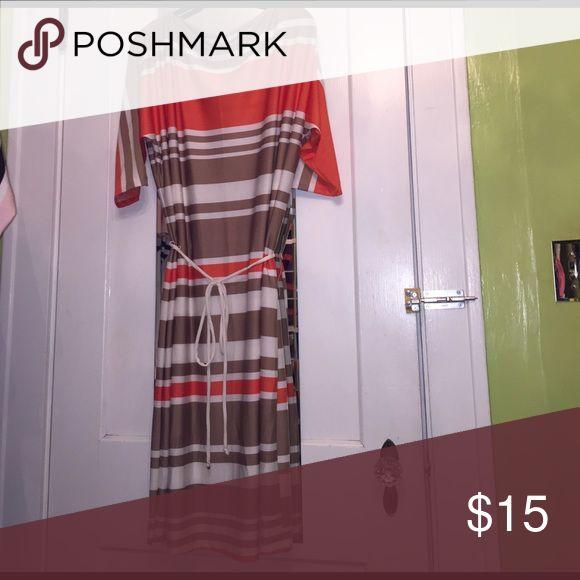 Call a black striped plus size dress 👗 Sz 2x Call a black striped plus size dress 👗 Sz 2x NWOT. This dress will hit slightly below the knee. Olivia Matthews Dresses Midi