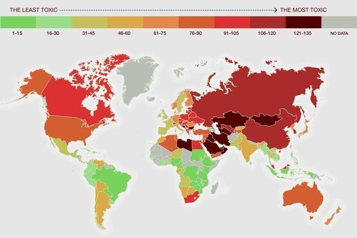 SUSTENTANDO - Informando e conscientizando: O efeito letal da poluição atmosférica: os países ...